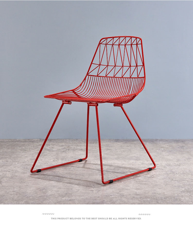 colored metal chairs