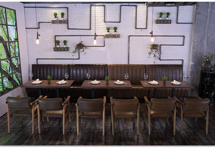 leather restaurant booths