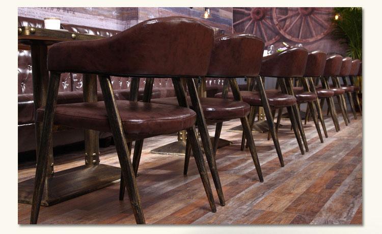 wooden restaurant benches