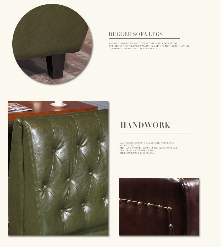 leather dining booth