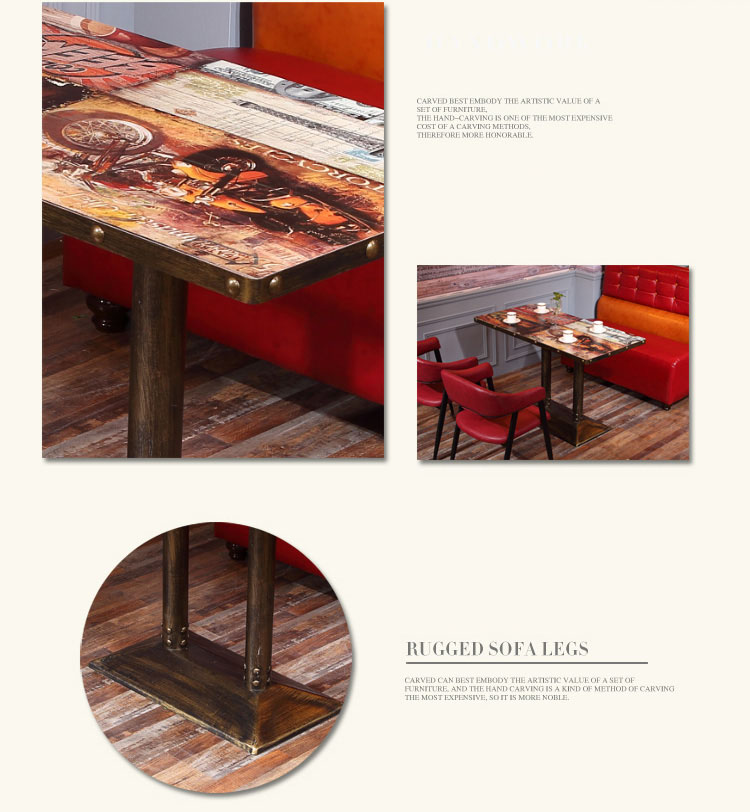 vintage restaurant tables