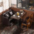 booth dining table rustic furniture combined