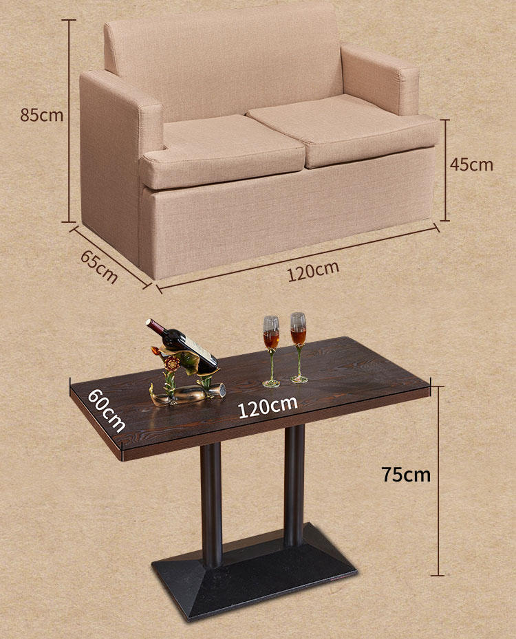 lounge sofas bench industrial ShengYang booth dining table