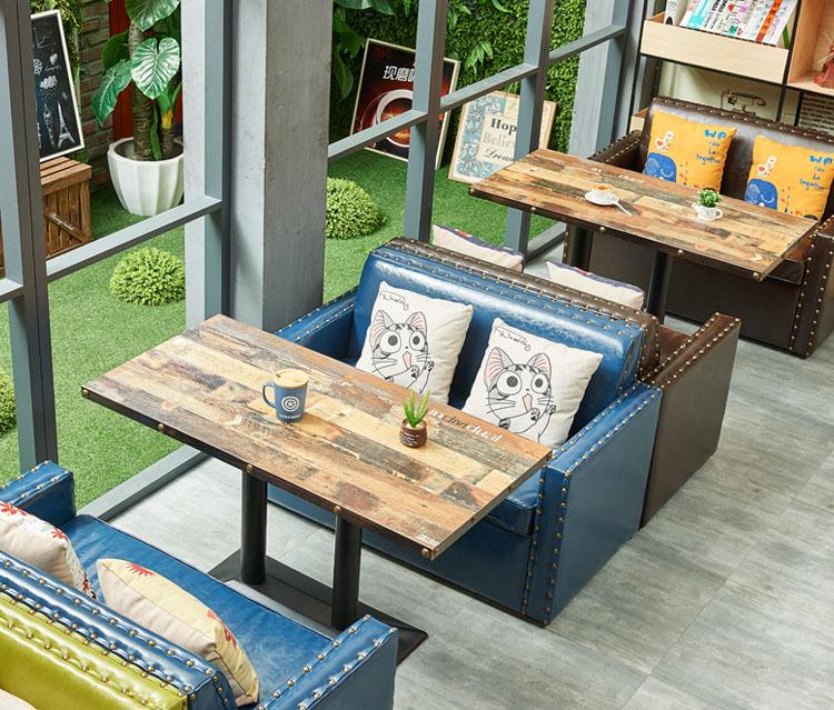 blue dining bench