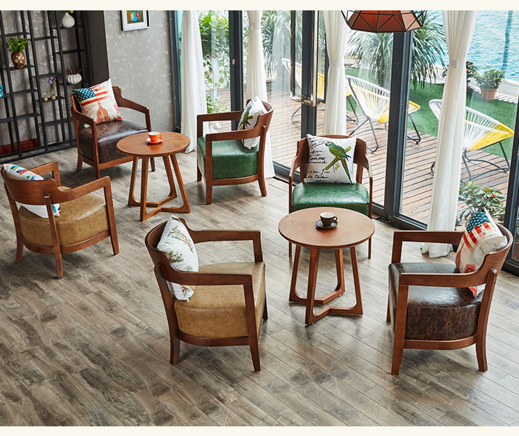 wooden cafe table and chairs