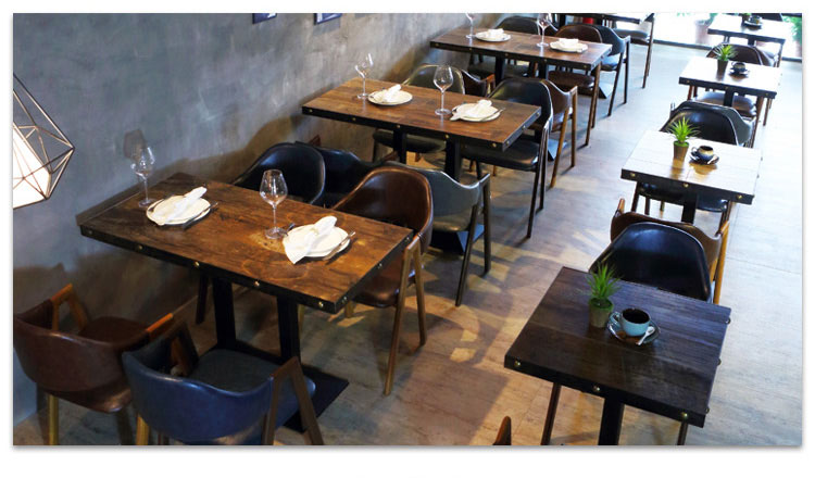 restaurant style dining tables