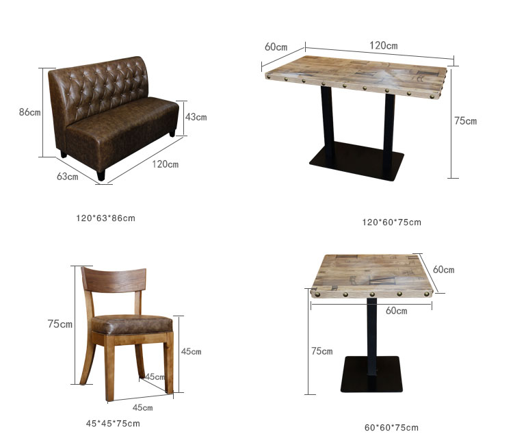 restaurant wood bench seating