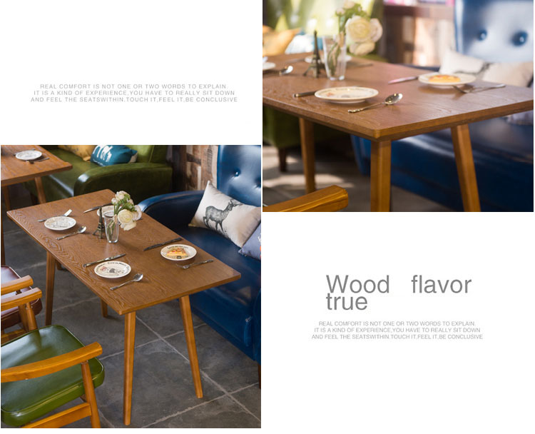 real wood dining table set