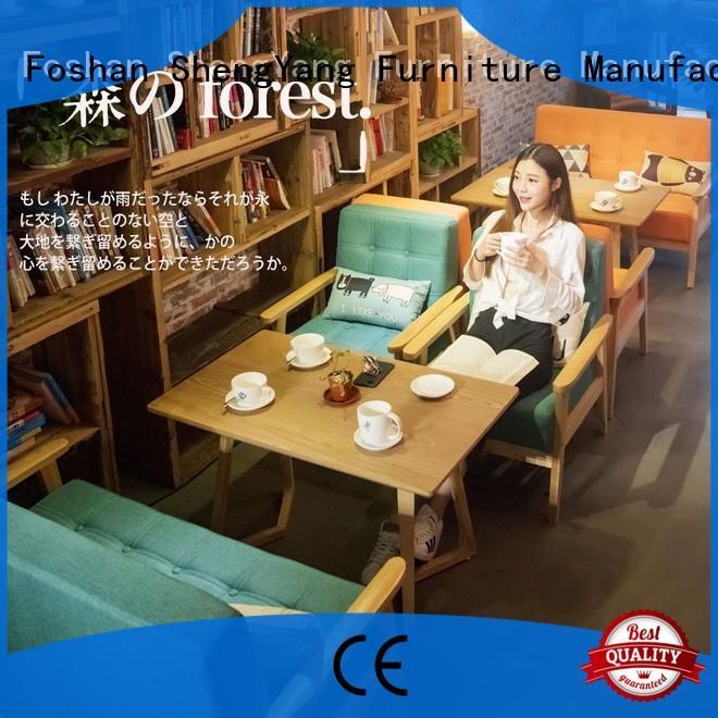 ShengYang restaurant furniture trendy designs bench hardwood for cafe shop