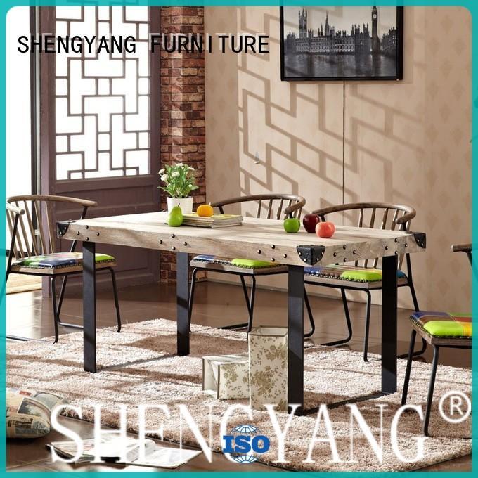 aluminum industrial dining table long antique ShengYang restaurant furniture Brand