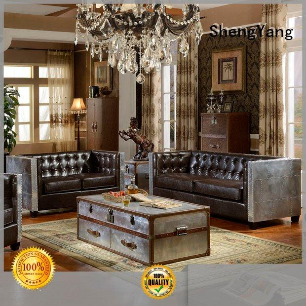 industrial sofa couch leather loft ShengYang