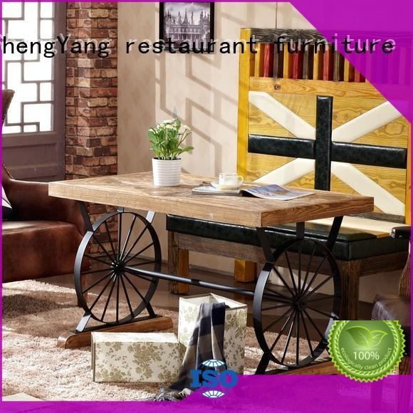 industrial dining table iron dinging restaurant ShengYang restaurant furniture Brand