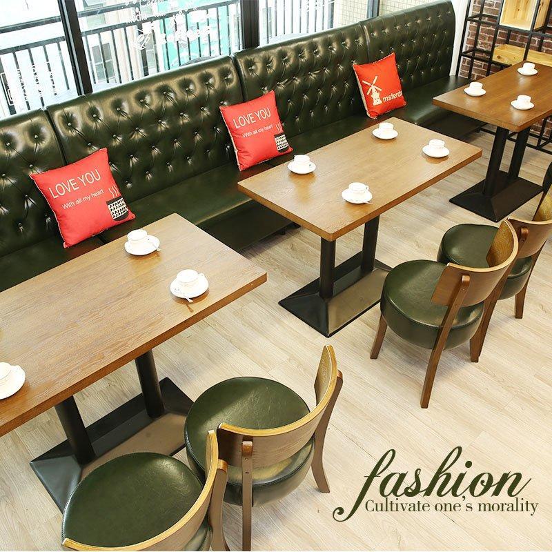 Simple Design Restaurant Furniture Wooden Booth Sofa Seating SE001-8