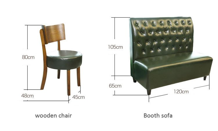 leather booth seating