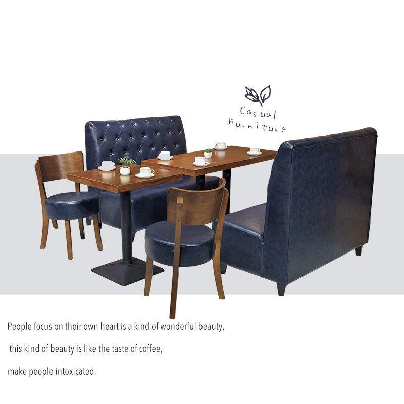 Nordic Style Commercial Furniture Wooden Restaurant Table And Booths SE001-11
