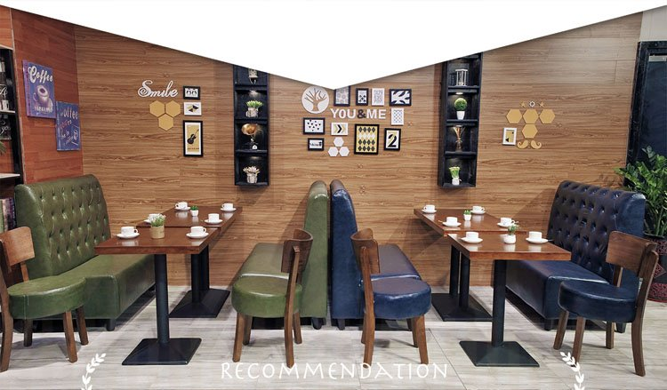 dining table with booth seating