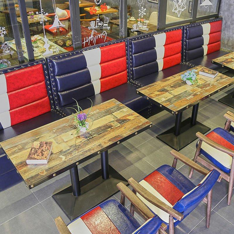 American Village Style Coffee House And Bar Booths Seating SE001-19