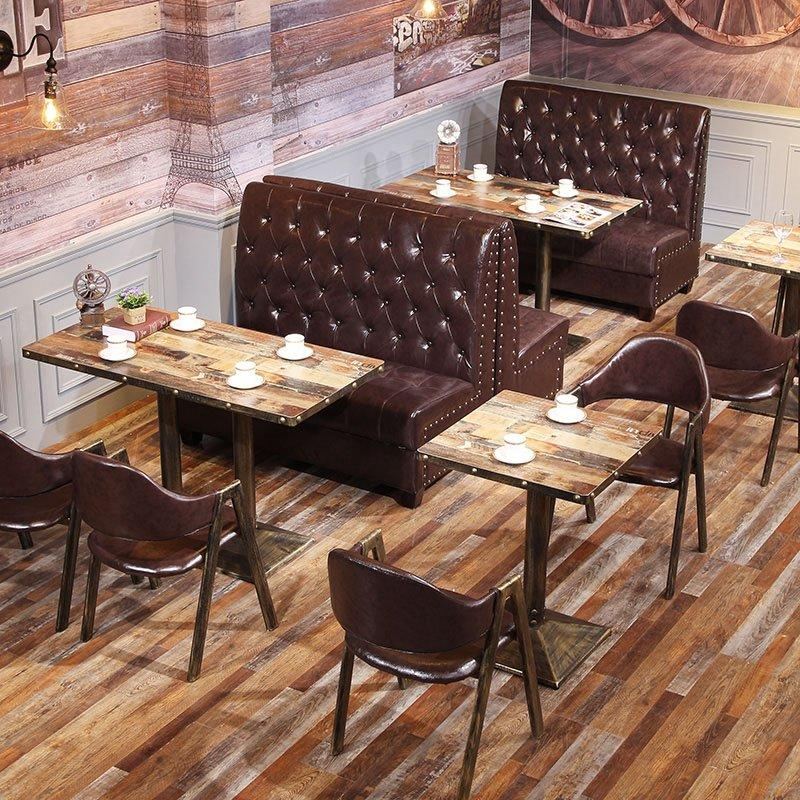 Industrial Metal Restaurant Furniture Catering Booths Sofa And Table SE001-31