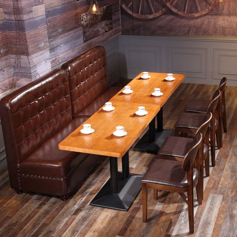 ShengYang restaurant furniture Classical Durable Dining Hall Furniture Leisure Booths Sofa Chair SE001-32 Table and Sofa Group image196