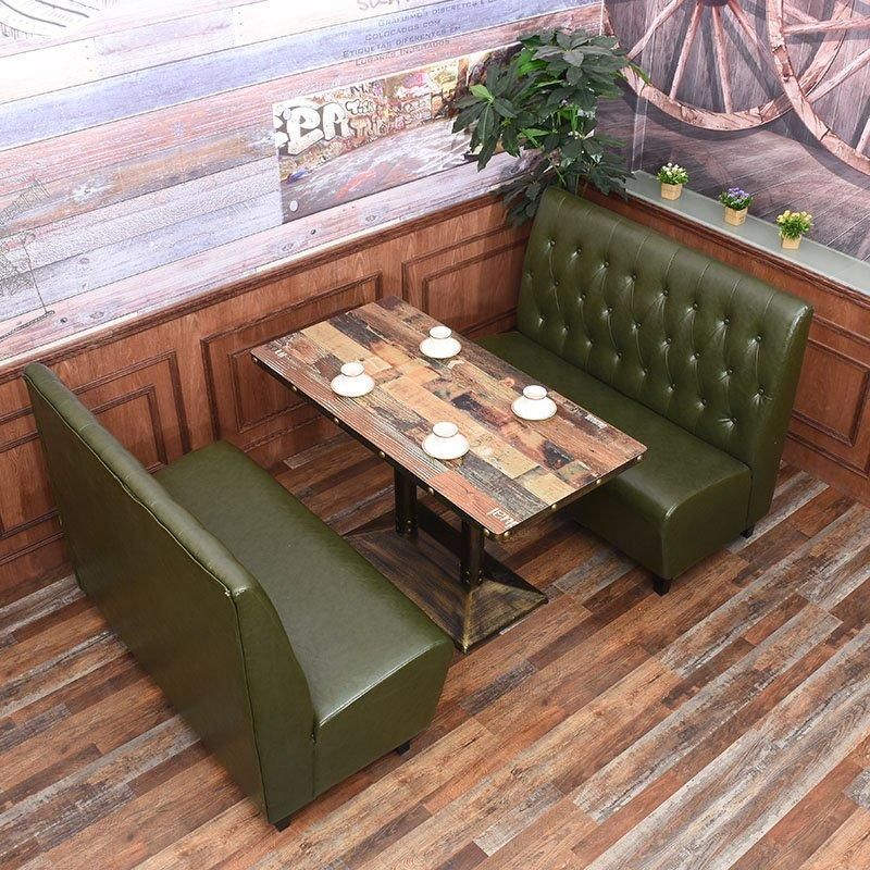 Nostalgic Restaurant Wooden Table And Chair KTV Booth Sofa SE001-34