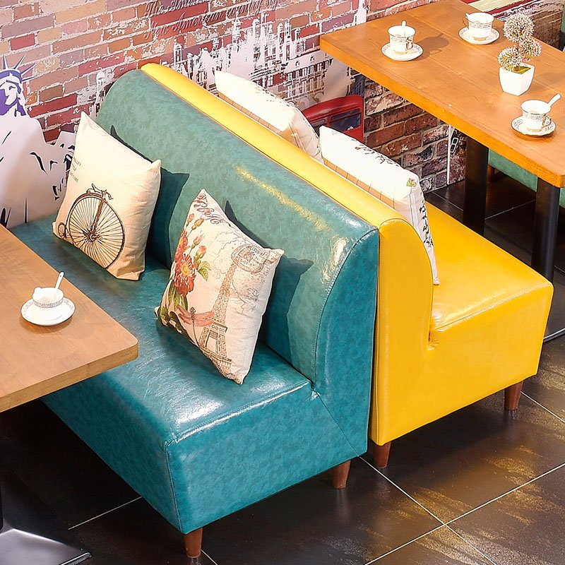 ShengYang restaurant furniture Fashionable Dining Furniture Hot Pot Restaurant Leather Booth Sofa Seating SE002-2 Table and Sofa Group image191