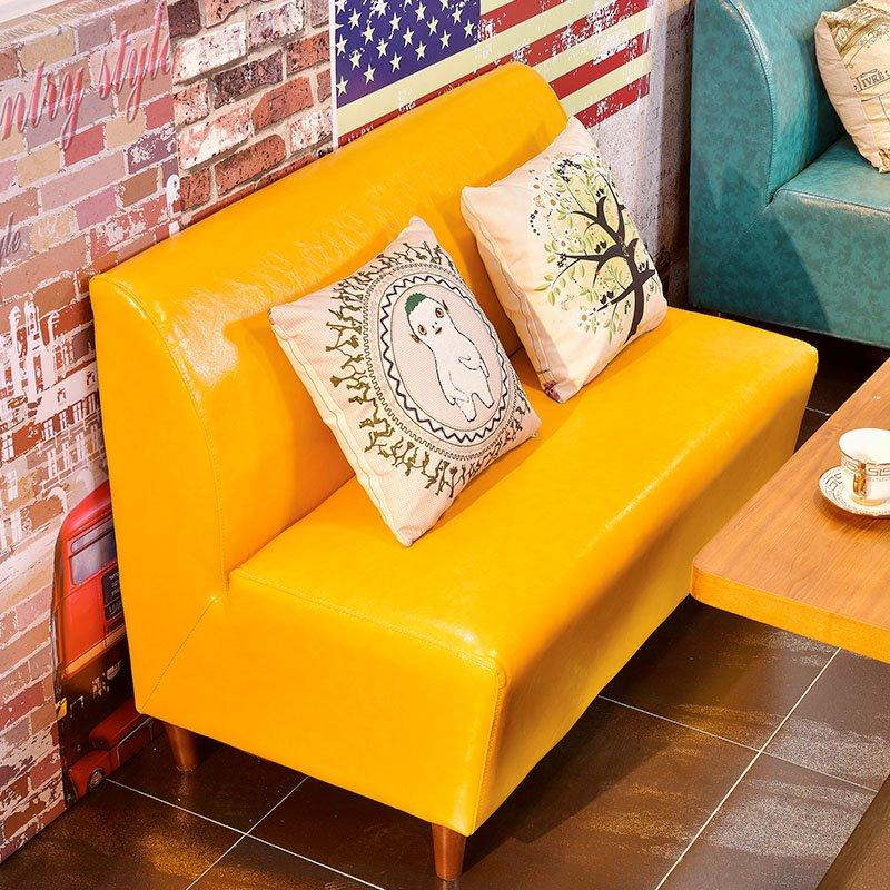 Fashionable Dining Furniture Hot Pot Restaurant Leather Booth Sofa Seating SE002-2