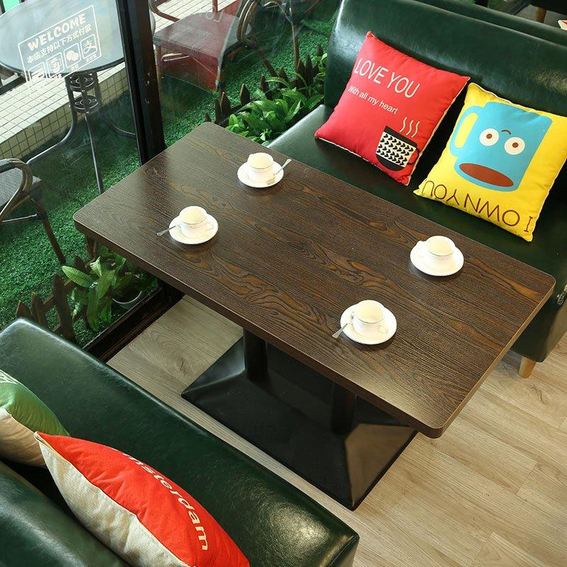 Concise Wood Made Durable Restaurant Table Chair And Booths SE002-3