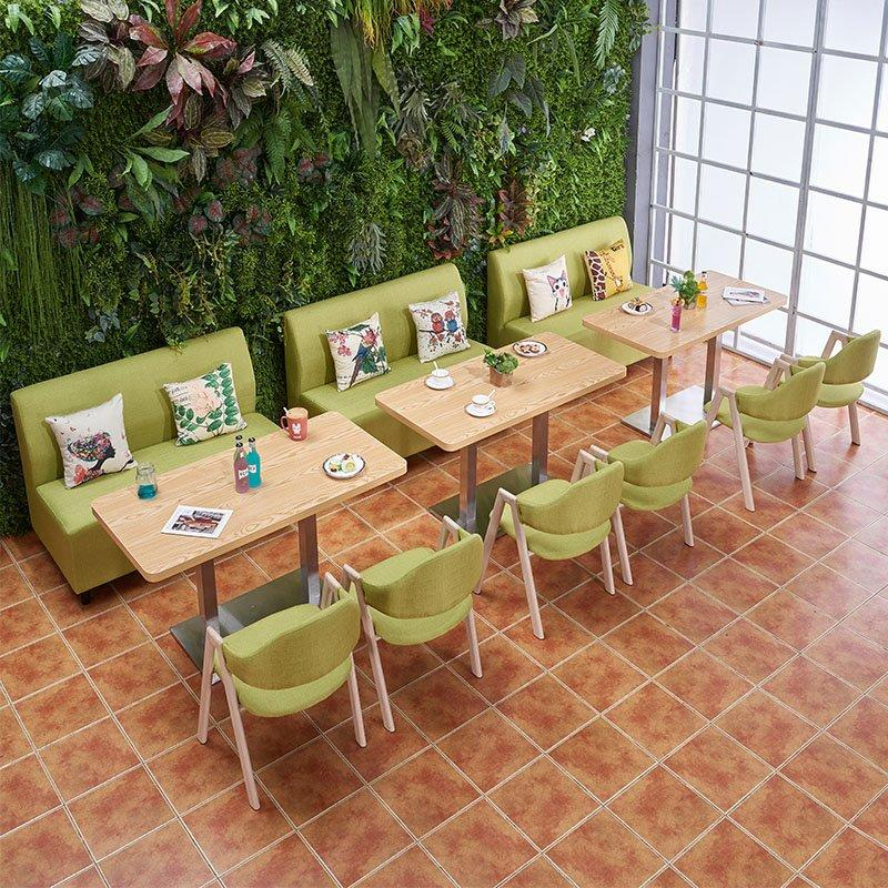 Custom-made Restaurant Furniture Snack Bar Fabrics Booth Sofa SE002-4