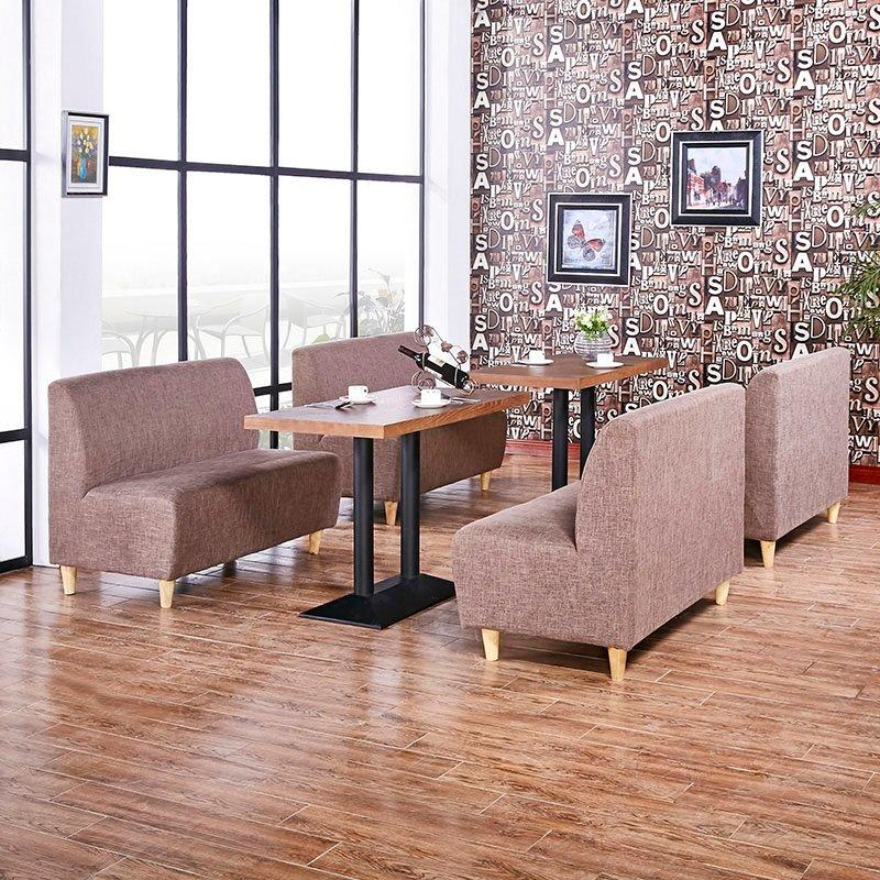 Simple Coffee Shop Furniture Customized Single Booth Or Double Booth SE002-7