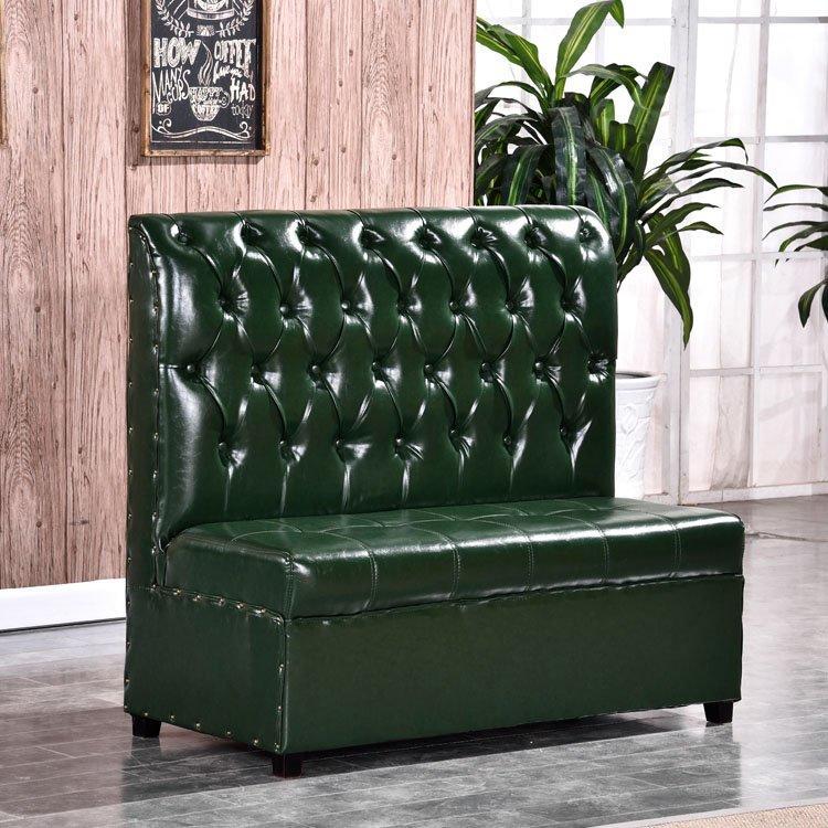 Contemporary Coffee Shop Furniture Custom Corner Booth Sofa SE001~2