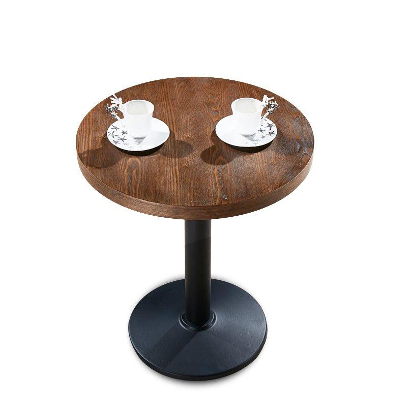 Simple Coffee Shop Bar Catering Wood Round Table TB015