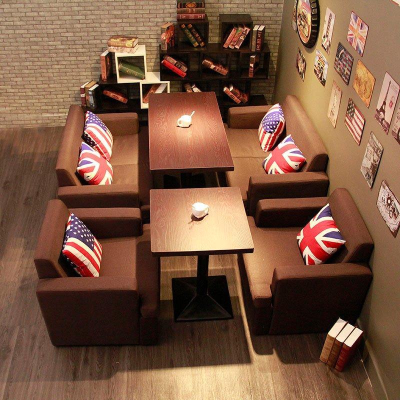 Modern Restaurant Furniture Banquette Sofa And Table Set SE003-1