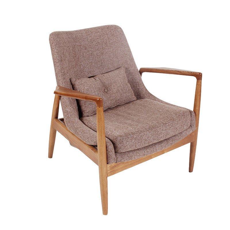 Modern Lounge Solid Wood Linen Fabric Single Leisure Sofa SA003