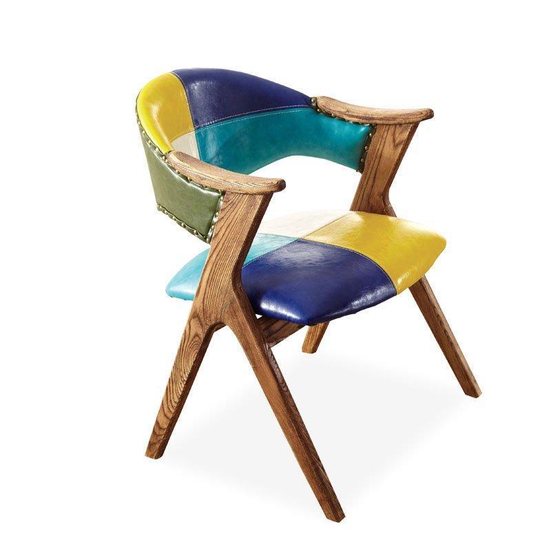 American Retro Style Themed Restaurant Wooden Armchair CB001