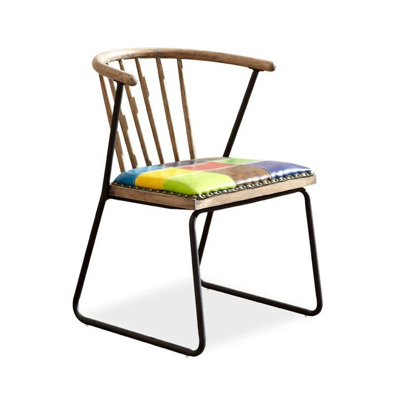 Industrial Design Coffee shop Bar Colorful Metal Chair CB002