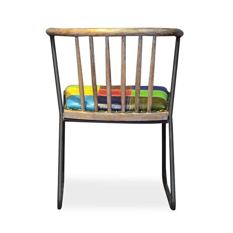 Industrial Design Coffee shop Bar Colorful Metal Chair CB002
