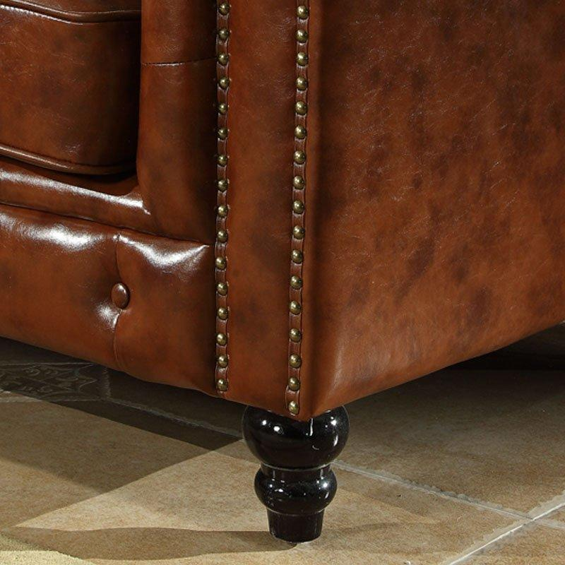 Classical Leather Pull Clasp Sofa Single Double Sofa Couch SH003