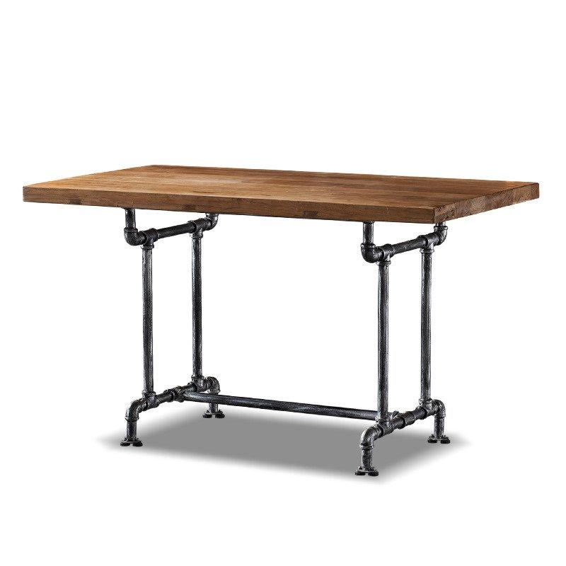 Loft Style Restaurant Wooden Top Iron Leg Catering Table TC003