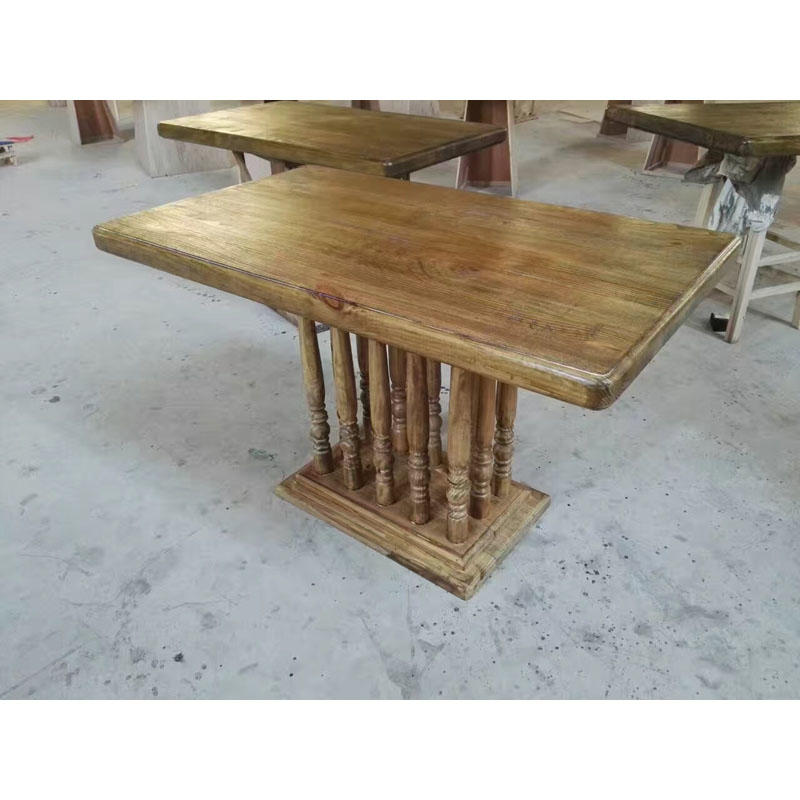 Antique Style Wooden Coffee Shop And Restaurant Square Table TC004