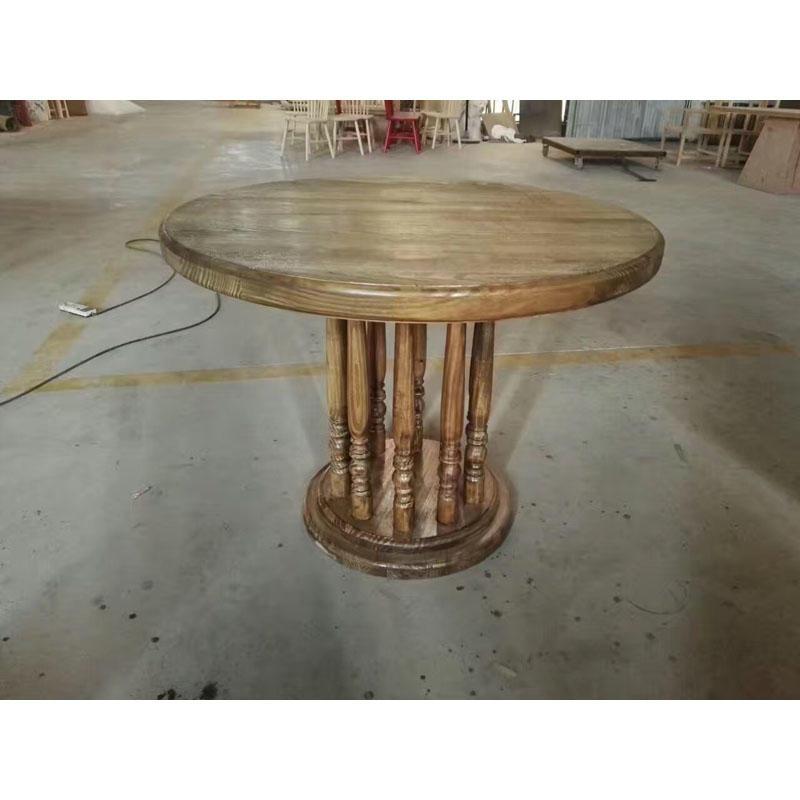 Retro Nostalgic Style Hotel And Restaurant wooden Round Table TC005