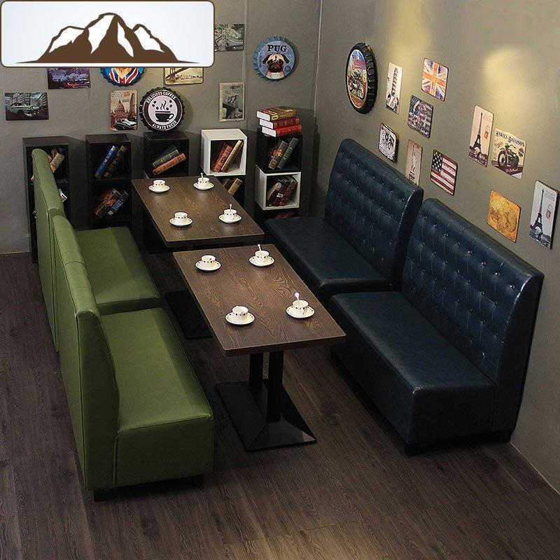 Modern Design Coffee Shop Dining Table And Booths Sofa SE001-1