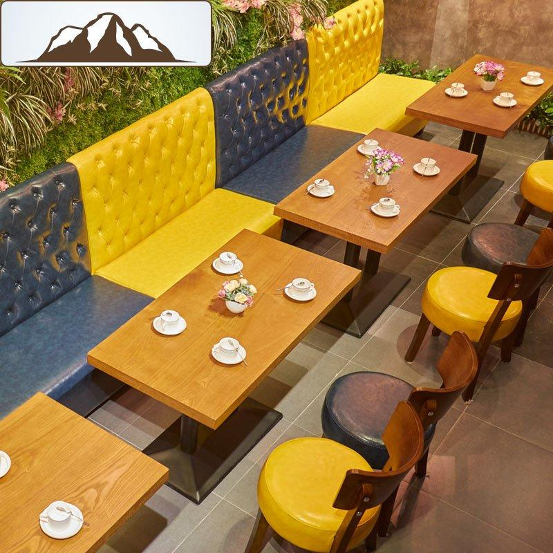 Simple Restaurant Booth Sofa Wood Dining Table And Chair SE001-22