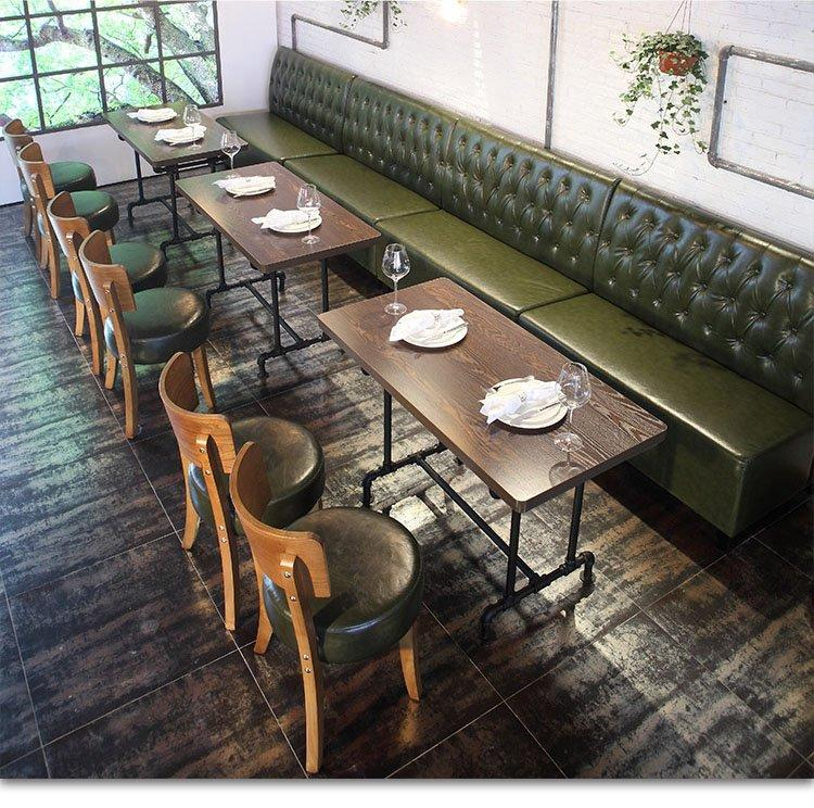 ShengYang booth dining table optional plywood retro tables