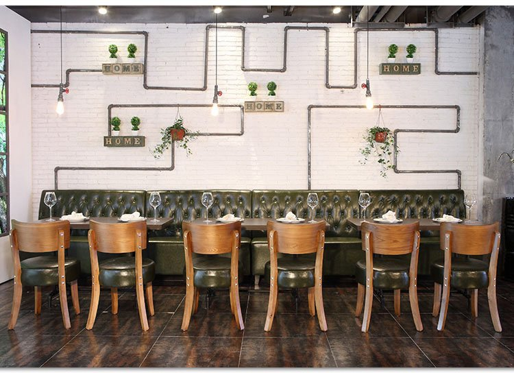 curved restaurant booths