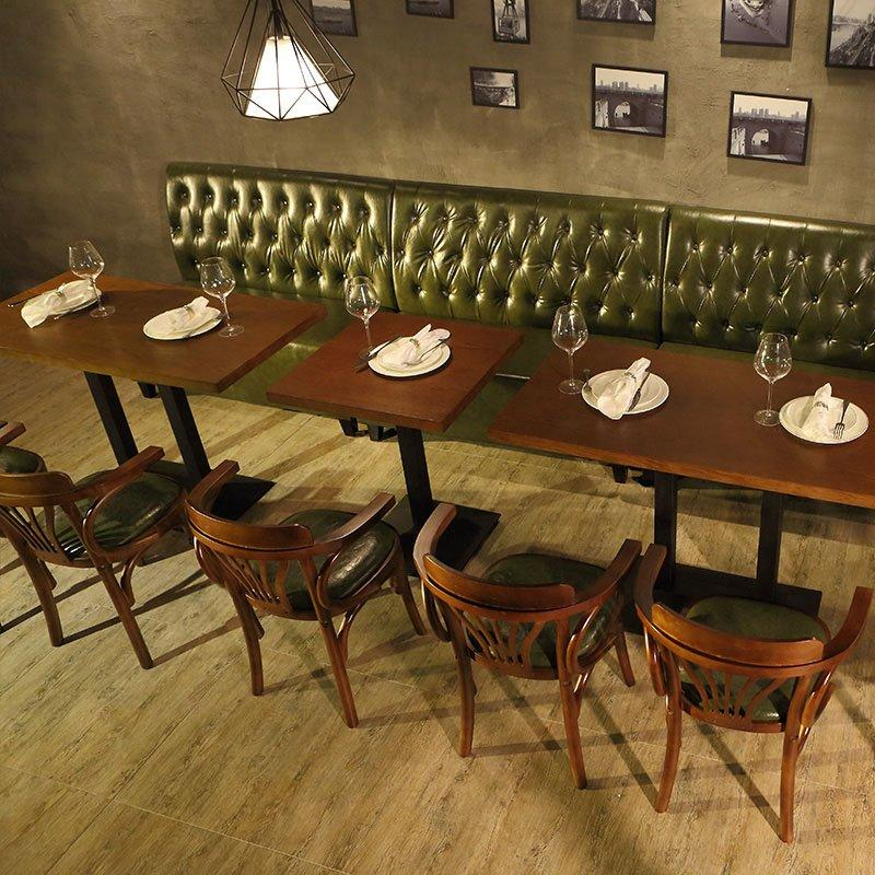 Retro Nostalgic Restaurant Furniture Table And Booths Seating SE001-29