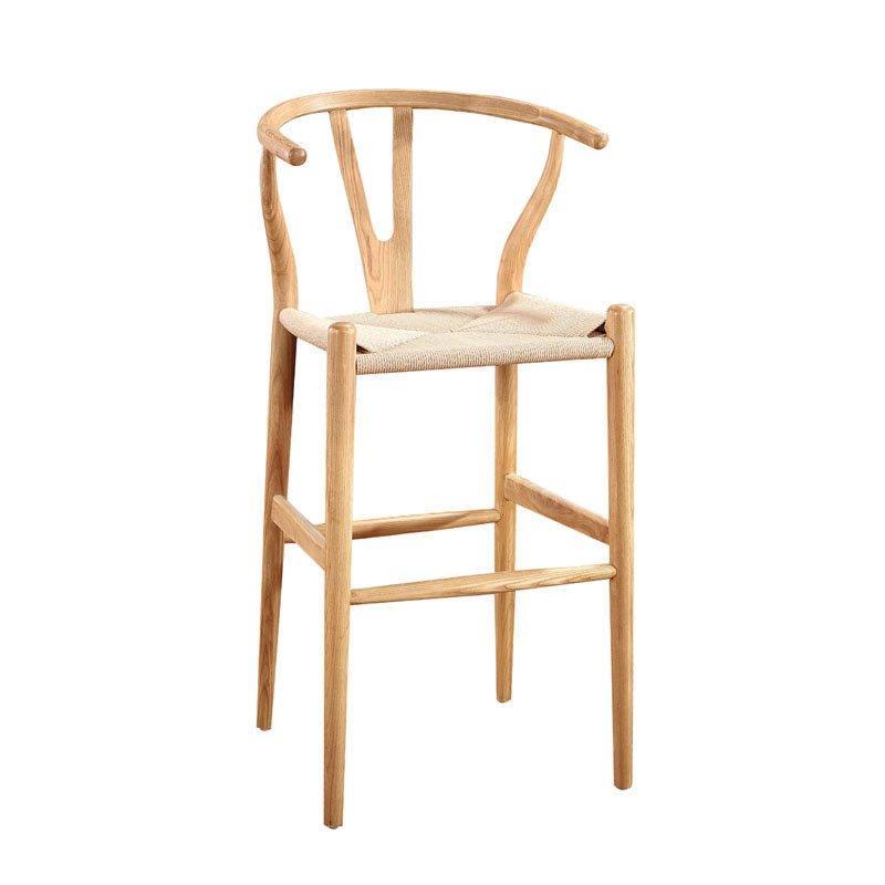 Simple Cofee Shop Solid Wood Barstool High Y Chair BA002