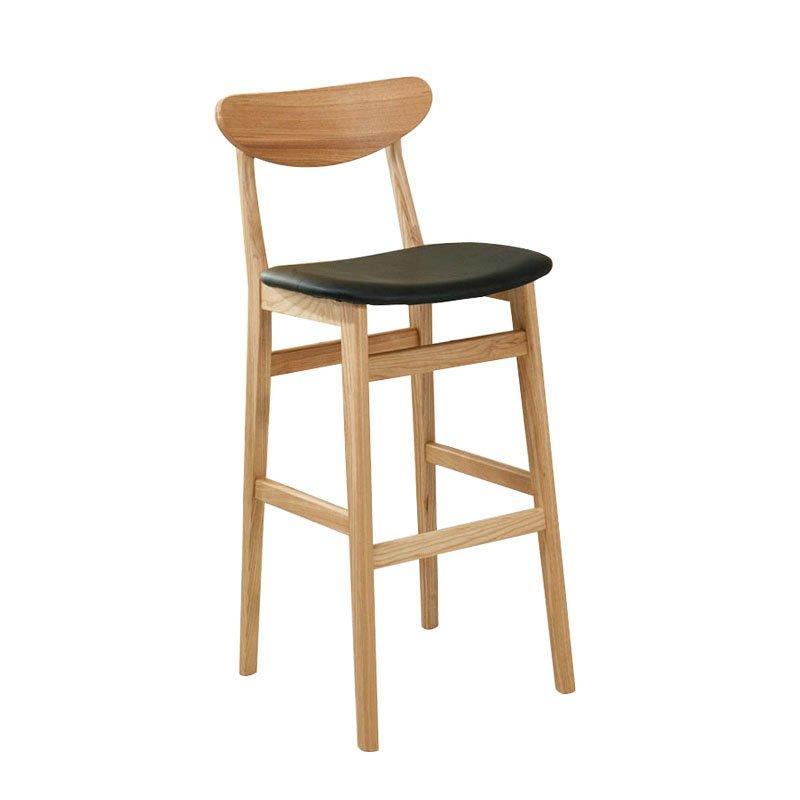 Modern Design Starbucks Wooden Barstool With Leather Soft Mat BA003