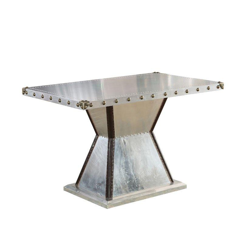 Industrial Hand-Made Restaurant Aluminum Skin Square Table TD001