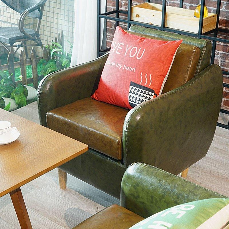 Modern Coffee Shop Furniture lounge Wood Tables And Sofas SE005-2