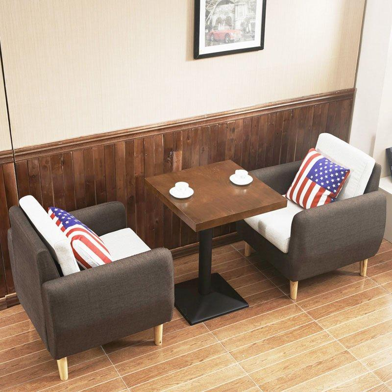 Modern Restaurant And Coffee Shop Dining Table And Sofa SE005-5